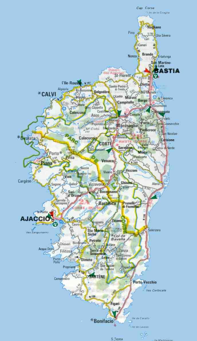 Corsica maps